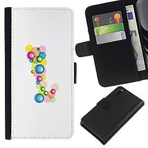 EJOY---La carpeta del tirón la caja de cuero de alta calidad de la PU Caso protector / Sony Xperia Z3 D6603 / --Cumpleaños minimalista Drops