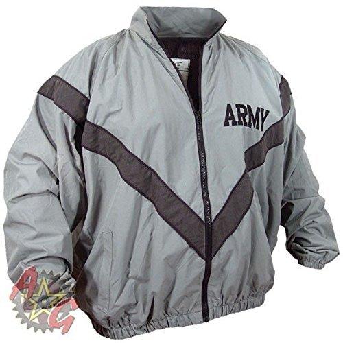 DSCP US Army Military Physical Training Fitness PT Uniform Top Sweat Jacket USGI (Medium/Short)