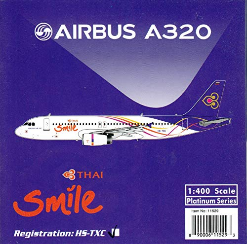 (Phoenix Model PHX11529 1:400 Thai Smile Airbus A320-200 Reg #HS-TXC (pre-Painted/pre-Built))