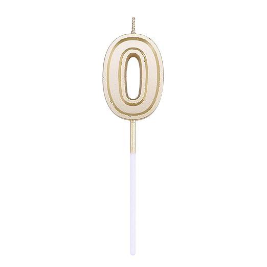 Toyvian Número Velas Pastel Velas Glitter Oro Feliz ...