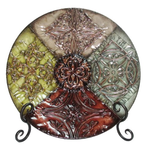 red decorative plates for display - 8