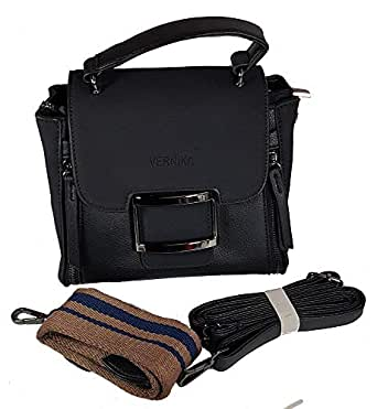 Vernika Bag For Women,Black - Baguette Bags