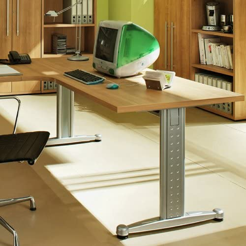 Escritorio 180 cm Noce NB. Oficina Mesa oficina Muebles Ordenador ...