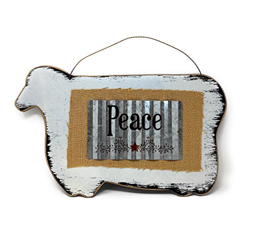 """Family Art Decor 3D Inspirational Wall Farmhouse Country Kitchen Sign Plaque 17"""" x 10.5"""" (Sheep)"""