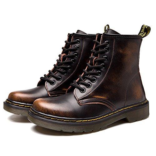 Uomo caldo Stivaletti Pelliccia Boots Stringati Marrone Stivali Cavaliere Neve B SITAILE Donna Stivali Snow Pelliccia Inverno TdPT1x8q