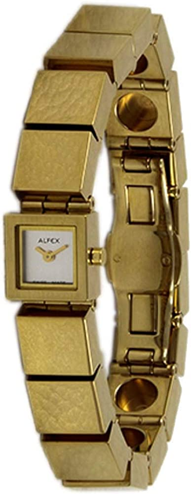Alfex Reloj de pulsera analógico para mujer con mecanismo de cuarzo con acero inoxidable Pulsera 5482