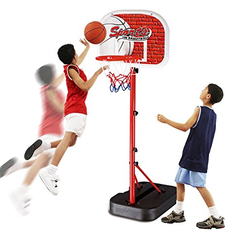Basketball Hoop Set Toys for Boys and Girls 4,5,6,7 Year Old Indoor and Outdoor Team Game Play Stands Height Adjustable for Growing Kids