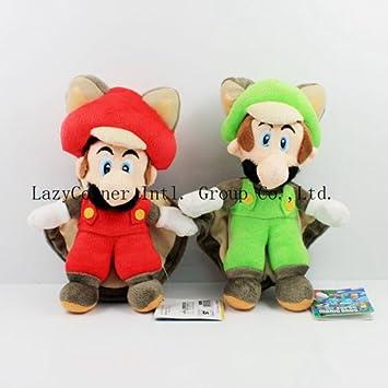 """Stand LUIGI /& MARIO Plush Doll Stuffed Toy 15/"""" 2 Pcs//Set New Super Mario Bros"""