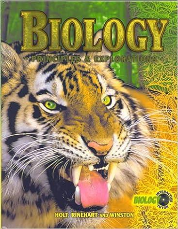 Biology Principles Explorations Holt Biology