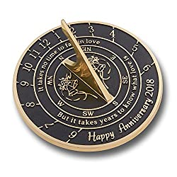 Looking For The Best Wedding Anniversary Gift? This Unique Sundial Gift Idea Is A Great Present For Him, For Her Or For A Couple To Celebrate Years Of Marriage