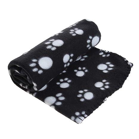 Ropa para Mascotas goodbene Mascotas Perros Estampado de la Manta Gatos Blandos Dormir Cubierta de Cama