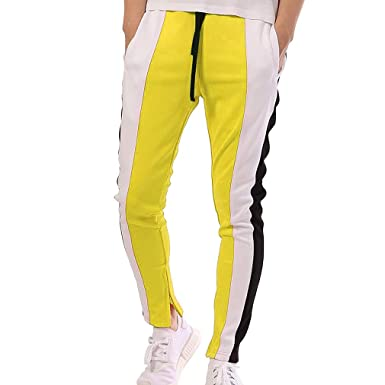 Pantalons Jogger Sport d homme Sweatpants - Mode Hommes Gym Slim Fit Pantalons  Pantalon de survêtement de Couleur contrastée Joggings Sweat Track  ... 671230670ef