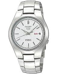 Seiko Mens SNK601 Seiko 5 Automatic Silver Dial Stainless Steel Bracelet Watch