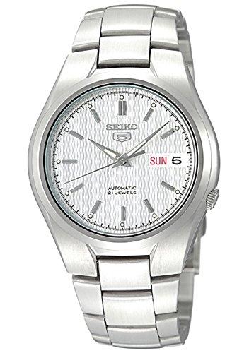 Seiko-Mens-SNK601-Seiko-5-Automatic-Silver-Dial-Stainless-Steel-Bracelet-Watch