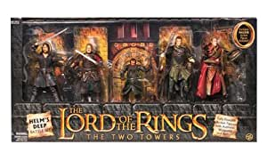 Lord of the Rings Two Towers Heroes of Helms Deep Action Figure 5Pack Includes Haldir
