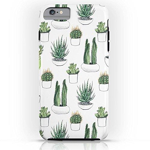 Roses Garden Phone Case Protectivedesign Hard Back Case Watercolour Cacti And Succulent Tough Case for iPhone 6 ()