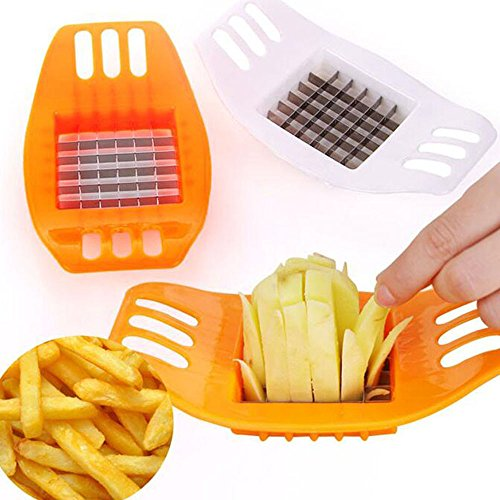 [Ieasycan 1 pc Potato Cutter Stainless Steel Vegetable Potato Slicer Cutter Potato Cutting Device Square Slicers Cut Fries Device For Kitchen Tool] (Square Cut Lemon)