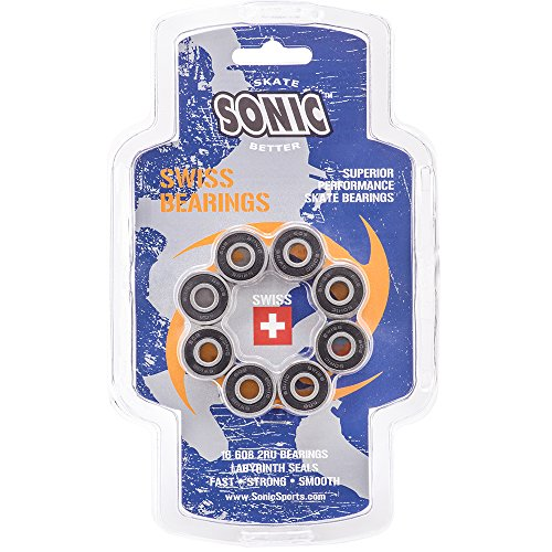 Sonic Swiss Inline Skate Bearings - SUPERIOR PERFORMANCE by Sonic
