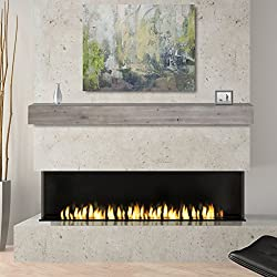 Pearl Mantels 492-72-WEATHER Fireplace Shelf, 72-Inch, Weathered Gray