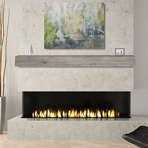 Pearl Mantels 492-72-WEATHER Fireplace Mantel Shelf, 72, Weathered Gray