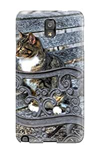 Hot NoRVxda4480CCoXn Case Cover Protector For Galaxy Note 3- Cat In A Rustic Bench Animal Cat