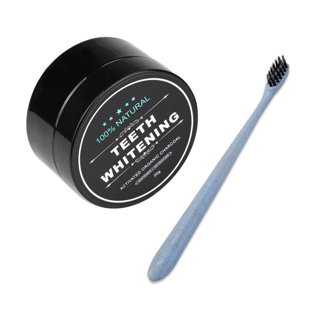 Activated Charcoal Toothpaste, Carcol Teeth Whitening Toothpaste Charcoal Teeth Whitening Kit with Natural Organic Activated Carbon,Great Powder for Teeth Cleaning Toothbrush Aolvo