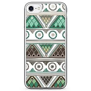 iPhone 8 Transparent Edge Phone case Chevron Aztec iPhone 8 Cover with Transparent Bumper