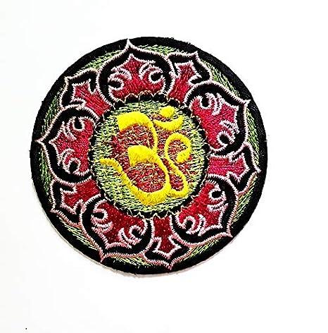 AUM Om Ohm Hindu Yoga Buda Indio Hermoso Loto Rojo Lucky Logo ...