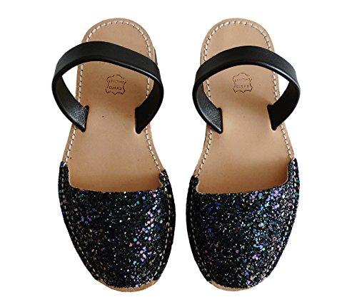Sandali Glitter Glitter Colori Vari Minorca Di Lilas Piattaforma 4 Cm Avarcas 8 Autentici cuneo Menorquínas rATq7rO
