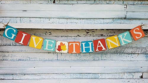 (Fall Banner, Give Thanks Banner, Fall Mantle Decor)