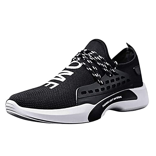 ad9b947fb5c94 Amazon.com: Men Sneakers Comfortable Lightweight Breathable Athletic ...