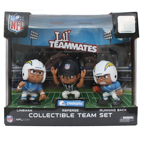 Diego Uniform Chargers San (Lil' Teammates 3 Figurine San Diego Chargers NFL Team Set (Pack of 3))