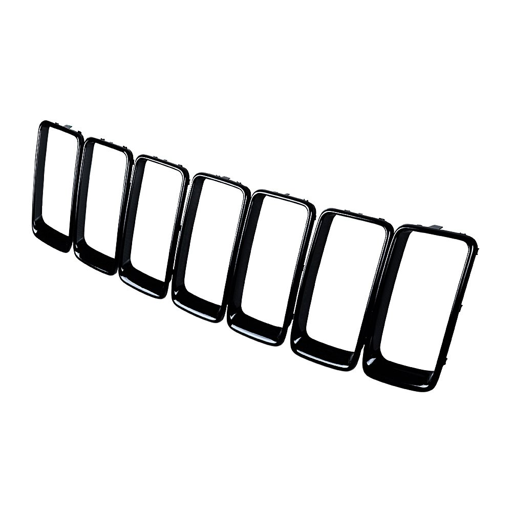7pcs Black Front Grille Trim Inserts Cover Mesh Guard for Jeep Cherokee 14 15 16 17 18