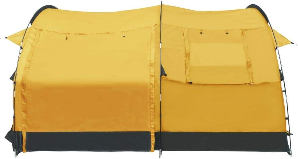 Goliraya Tenda da Campeggio a Tunnel per 4 Persone Blu//Verde//Giallo,Tenda da Viaggio 4 Persone,Tenda per Esterno 4 Persone 410 x 260 x 150 cm