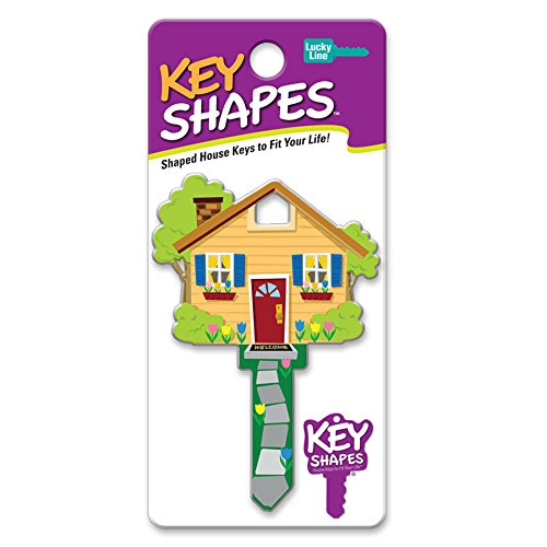 Lucky Line Key Shapes, HOME, House Key Blank, SC1, 1 Key (B105S)