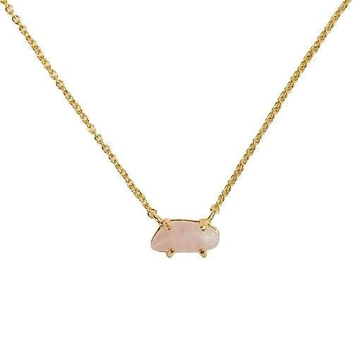 d0e299dc9cdb LuckyLy – Collares Oro Mujer – Collares de Mujer con Piedras Naturales Ivy  – Cadena Baño