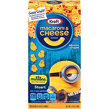 Kraft Macaroni & Cheese Dinner, Movie Shapes, 5.5 Ounce (Pack of 12)