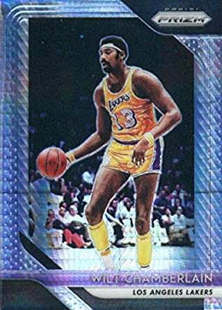 2018-19 Panini Prizm Prizms Hyper  205 Wilt Chamberlain Los Angeles Lakers  Basketball Card a5876bd7f