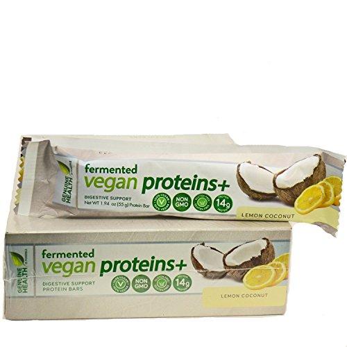 Genuine Health Fermented Vegan Proteins+ bar, Lemon Coconut,