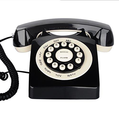 Retro Corded Phone, BNEST Vintage Landline Desk Phone Classic Home  Deocration Phone for Bedroom Living Room Office Decor (Black) - Antique Vintage Phone: Amazon.com