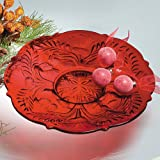 Smithsonian Inverted Thistle Glass Egg Plate