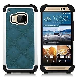 - Simple Pattern 1/ H??brido 3in1 Deluxe Impreso duro Soft Alto Impacto caja de la armadura Defender - SHIMIN CAO - For HTC ONE M9
