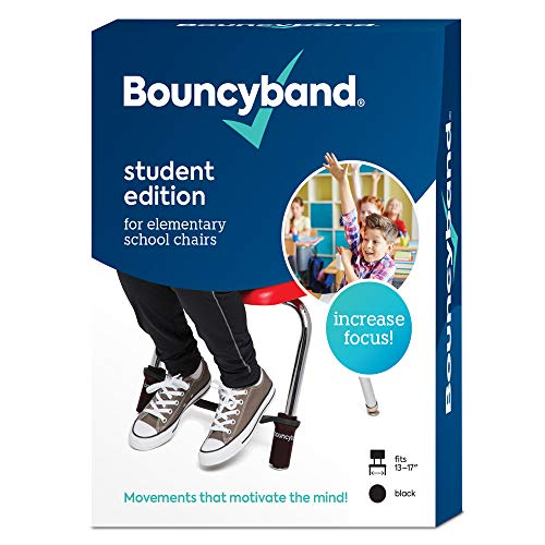 Bouncy Bands for Elementary School Chairs (Black) (Bouncy Bands For Chairs Black Support Pipes)