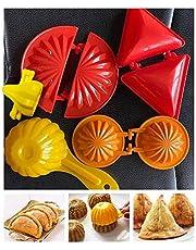 Will and Weaves Modak Sancha Samosa Maker Mould Pie Maker Karanji Maker Multicolor Modak mould Modak Maker Indian Snacks Maker
