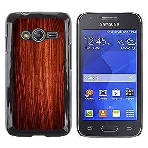 TopCaseStore / la caja del caucho duro de la cubierta de protección de la piel - Wallpaper Art Wood Interior Design Texture - Samsung Galaxy Ace 4 G313 SM-G313F