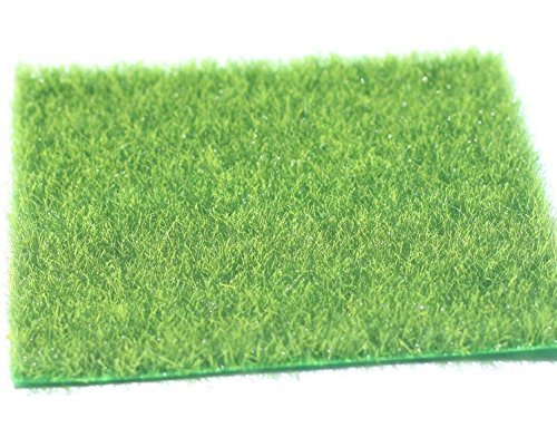 Artificial Grass Fake Lawn Simulation Miniature Garden Ornament Dollhouse (30 x 30 cm, 4 Sets) ShiBaPan Limited.