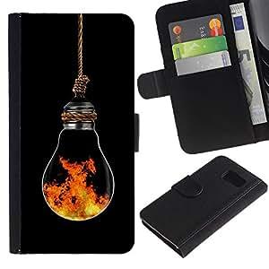 All Phone Most Case / Oferta Especial Cáscara Funda de cuero Monedero Cubierta de proteccion Caso / Wallet Case for Sony Xperia Z3 Compact // Light Bulb Art Modern Fire Symbolic Element