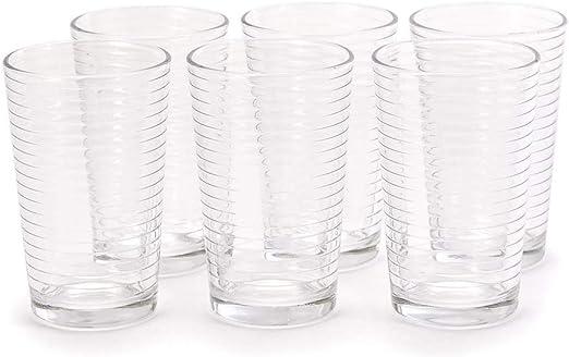 Gläser Glas Trinkgläser Longdrink Wassergläser 200 ml Стакан граненый