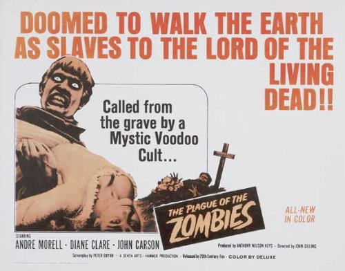 The Plague of The Zombies Movie Poster (30 x 40 Inches - 77cm x 102cm) (1966) UK -(Andre Morell)(John Carson)(Diane Clare)(Alex Davion)(Jacqueline Pearce)(Brook Williams)