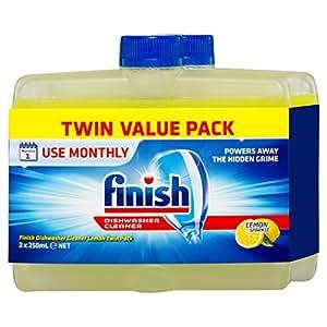 Finish Dishwasher Cleaner Lemon Bonus Twin Pack, 500ml